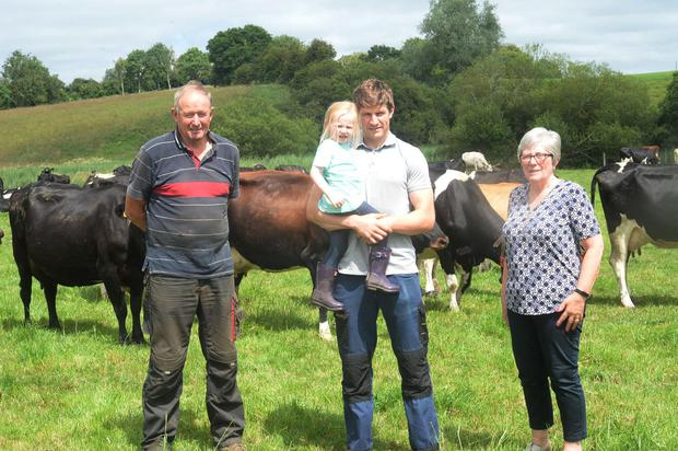 Darren shares the farm work with dad Francis and mum Patricia