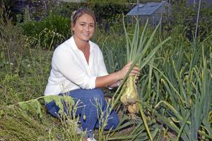 Know your onions: Rebecca grows most of what she cooks