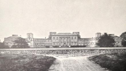 Line of fire: Summerhill House in Co Meath was razed to the ground by the IRA in February 1921 after long-running agrarian agitation on the estate — it is considered the most architecturally significant 'Big House' destroyed during the 1920-23 period