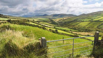 Green meadows near Dingle, Co Kerry: Farmers in Kerry, Donegal and Connacht could be big winners if full convergence is implemented