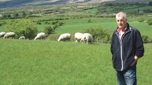 Sean Conway pictured on his farm in Coondrihara, Co Sligo
