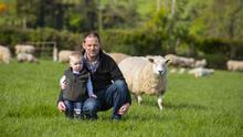 Simon Byrne from Ballinavocran, Bunclody, Co Wexford with his son Simon 1.5 yrs. Picture: Patrick Browne