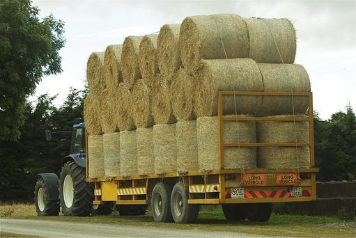 The price of 8x4x4 straw bales has slipped to €30-35/bale, back around €5/bale on last year. Photo O'Gorman Photography.