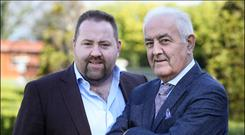 Father and son Tom and Patrick Doyle live together in Wexford. Photo: David Conachy