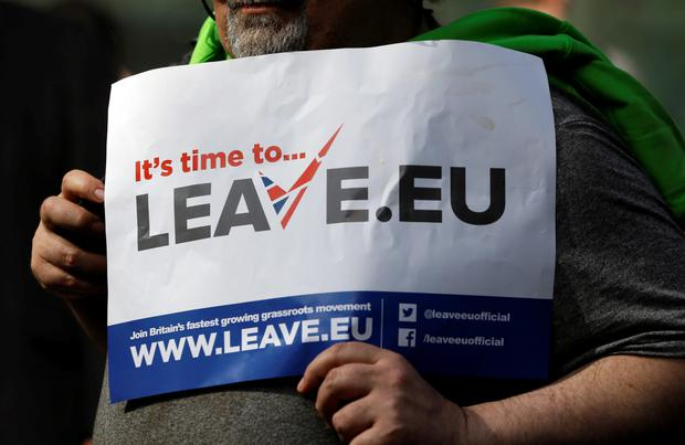 A pro-Brexit campaigner in London this week