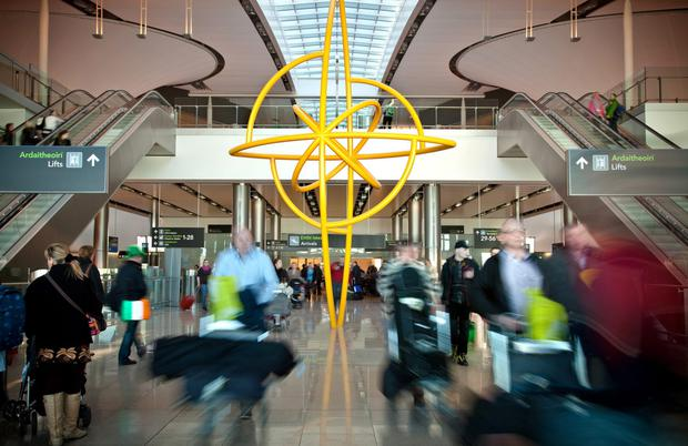 So far this year, more than 10.9 million passengers have travelled through Dublin Airport Stock image