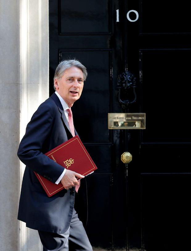 UK Chancellor Philip Hammond