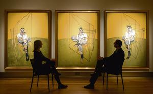 GREED: 'Three Studies of Lucian Freud' by Francis Bacon. It sold last November for $142.5m after just six minutes of bidding. Photo: Dominic Lipinski/PA