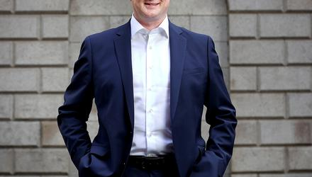 Chief executive of Corre Energy Keith McGrane outside the Irish Stock Exchange in Dublin. Picture by Frank McGrath