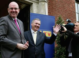 Managing Director of UTV Television Michael Wilson (left) and Group Chief Executive of UTV Media plc John McCann