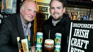 Peter Mosley and Elliot Hughes of the Porterhouse Brewing Company