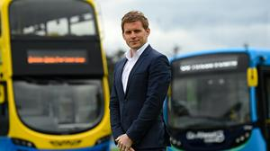 Go-Ahead Ireland's managing director Andrew Edwards says buses are at 50pc capacity and he is aiming for 100pc by August. Photo: Ramsey Cardy/Sportsfile