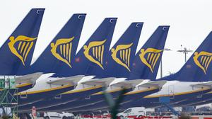 Ryanair expects to report a loss of between €800m and €850m