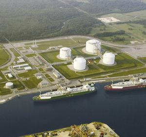 An image of what the proposed Shannon LNG terminal would look like