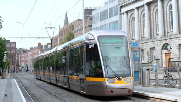 New figures from the National Transport Authority (NRA) showed that Luas saw the biggest growth, up 6pc to nearly 35 million passengers last year. Picture: Caroline Quinn
