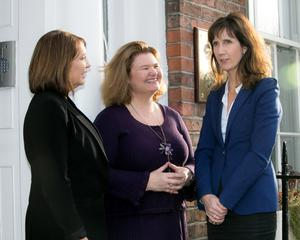 Patricia Byron, director general of the Society of Chartered Surveyors Ireland; Sarah Ingle, secretary general of the Association of Consulting Engineers of Ireland; and Caroline Spillane, director general of Engineers Ireland, reveal the sector's fears for the future in Dublin. Photo: Colm Mahady/Fennell Photography