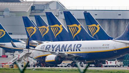 Aircraft from Ryanair and other carriers have been grounded by Covid lockdowns. Photo: Niall Carson
