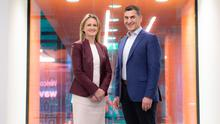 Helena O'Dwyer, head of wavespace at EY and Frank O'Dea, chief innovation officer