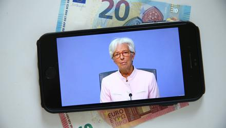 Rescue: ECB President Christine Lagarde has expanded supports during the Covid crisis. Photo: Hollie Adams/Bloomberg
