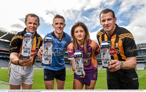 Glanbia Consumer Products recently announced the details of its new partnership with the GAA/GPA to promote the new Avonmore Protein Milk. In attendance at the announcement are 2014 Avonmore Ambassadors, from left, Kilkenny hurler Tommy Walsh, Dublin footballer Paul Mannion, Wexford camogie player Mags D'Arcy and Kilkenny hurler Jackie Tyrell.  Photo: Barry Cregg / SPORTSFILE