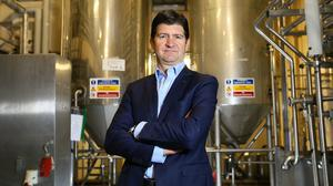 Oliver Loomes is leaving after working for Diageo for 21 years and will be replaced byBarry O'Sullivan as MD Ireland. Photo: Frank Mc Grath