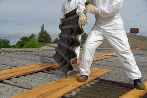 Asbestos: Ires said hazardous material had to be removed from the site. Stock photo