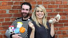 Husband and wife Brian and Rachel Nolan, co-founders, Nobó Dairy-Free Ice-cream