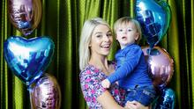 Pippa O'Connor and her son Ollie