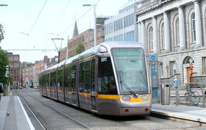 The Luas . Photo: Caroline Quinn