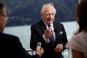 Peter Sutherland in 2015 while UN Special Representative of the Secretary-General for International Migration. Photo: Bloomberg