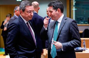 Meeting: ECB boss Mario Draghi  and Minister for Finance Paschal Donohoe