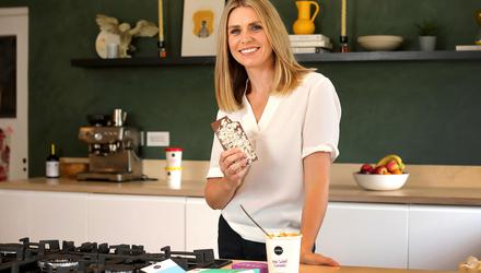 Rachel Nolan, co-founder of Nobó, at home in Dundrum, Dublin, with some of their chocolate. Picture by Frank McGrath