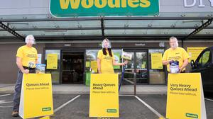 DIY boom: Woodies staff at their flagship store in Bray, home renovations by remote workers saw the sector do well in lockdown. Photo:Frank McGrath