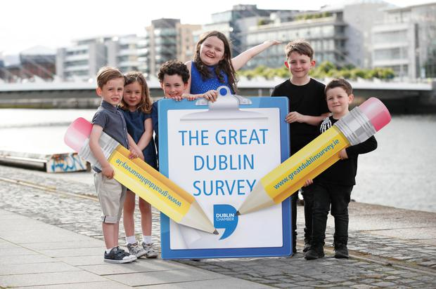 Sam McQueen, Hannah Lyons, Michael Lyons, Rose Foster, Liam Cullen and Tommy Cullen at the survey launch. Photo: Conor McCabe Photography