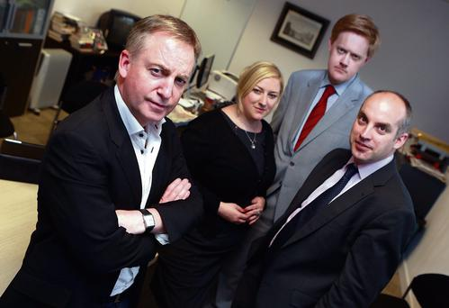 The Anglo Tapes team: from left, Paul Williams, Dearbhail McDonald, Fionnan Sheahan and Donal O'Donovan