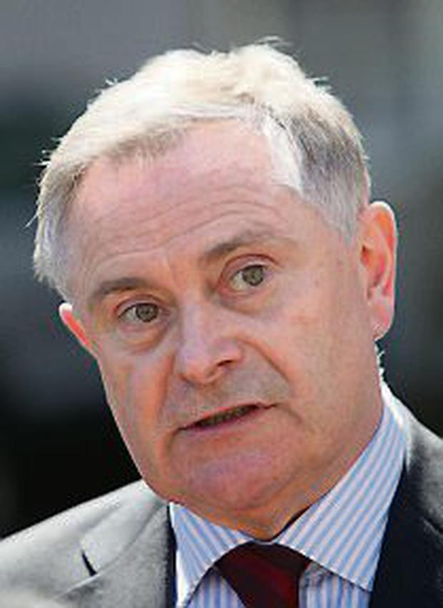21/5/2013; Brendan Howlin, T.D., Minister for Public expediture and Reform pictured at government buildings announceing that unions have drafted pay proposals for consideration following talks at the Labour Relations Commission. Picture credit; Damien Eagers / Irish Independent