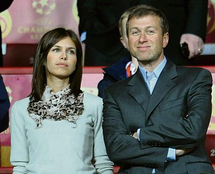 TARGET: Roman Abramovich and girlfriend Daria Zhukova