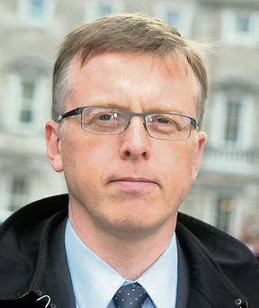 Matthew Elderfield arriving for the hearing at the Dail