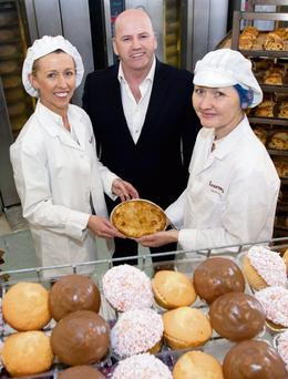 THE SWEETEST THING: Maura and Siobhan Kearney of Kearney's Bakery with Sean Gallagher