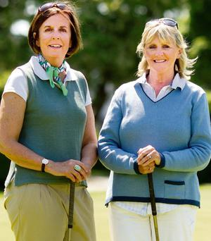 UP TO PAR: Kathy Dillon and Ros Marrinan have fashion down to a tee.