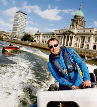 AT THE HELM: Donnchadh Mac Cobb of Adventure Training Ireland.