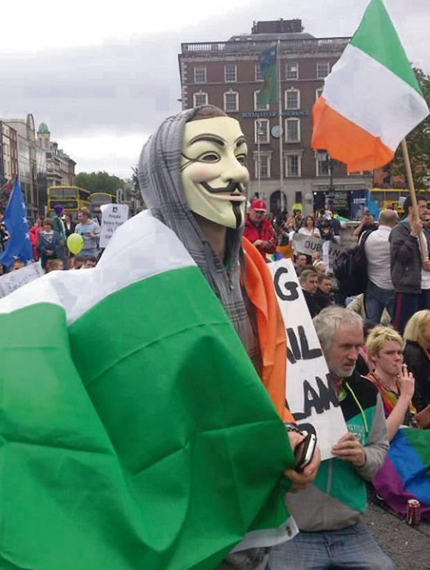 'Jail the Bankers' protesters in Dublin at the weekend