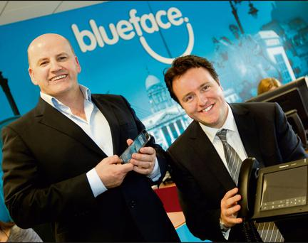 SELF STARTERS: Sean Gallagher and CEO of Blueface Alan Foy.