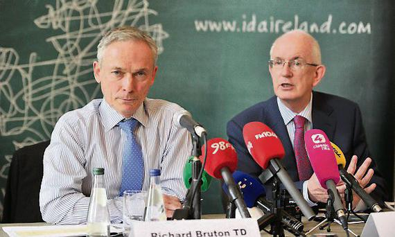 Richard Bruton and Barry O'Leary