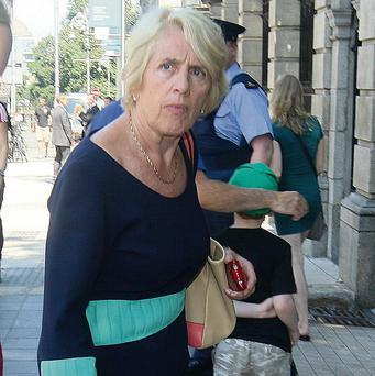 SPINNING: Vivienne Jupp, chair of CIE Group, pictured arriving at Leinster House before appearing at a transport committee meeting