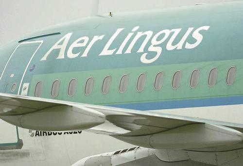 Aer Lingus plane lands at Dublin airport
