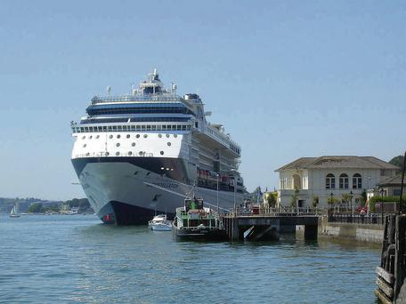 A cruise ship in Cork where business is booming