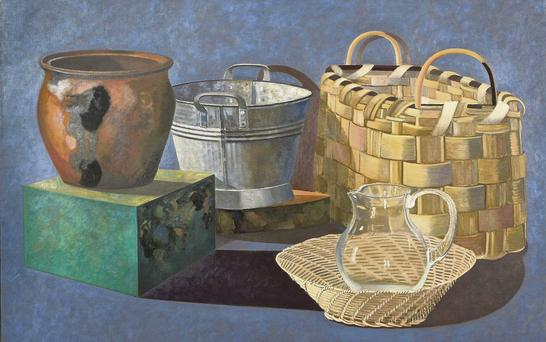 The painting, 'Baskets and Vessels', which is expected to receive the highest bid.