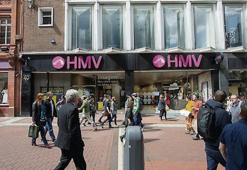 HMV on Grafton Street closed