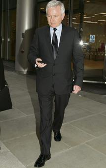 Paddy McKillen at the High Court in London, on one of his rare forays into the public arena
